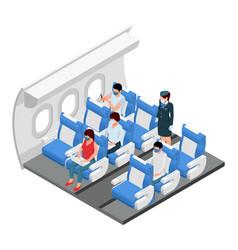 Airport aircraft interior vector