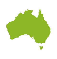 australian map design vector image