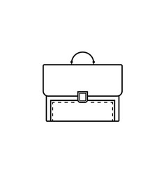 Briefcase and business line icon finance vector