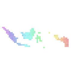 Bright cirle dot indonesia map vector