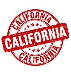 California red grunge round vintage rubber stamp vector