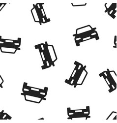 car icon seamless pattern background business vector image