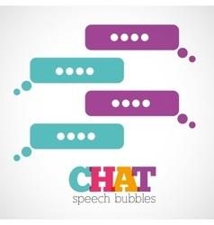 Chat speech bubbles vector