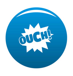 Comic boom ouch icon blue vector