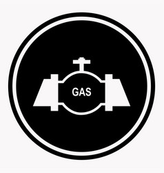 danger attention logo sign in round shape with gas vector image
