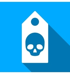 Death Skull Coupon Flat Long Shadow Square Icon vector