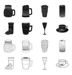 Design of drink and bar symbol collection vector