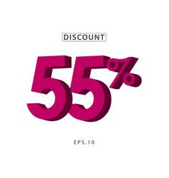 discount 55 template design vector image