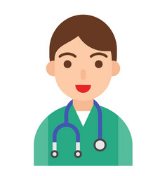 doctor icon profession and job vector image