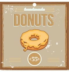 donutposter vector image
