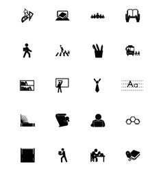Education Icons 4 vector image