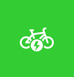 electric bike vector image