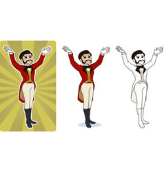 entertainer circus character vector image