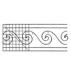 evolute spiral painting is a wave pattern vintage vector image