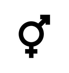 Female and male sign on white background vector