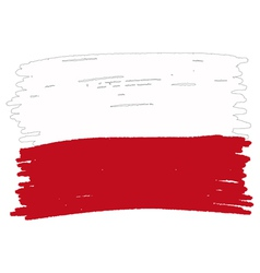 Flag of Poland handmade vector