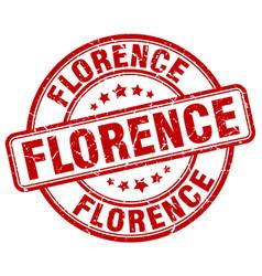 Florence red grunge round vintage rubber stamp vector