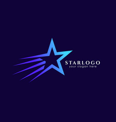 flying star logo design stock template star icon vector image