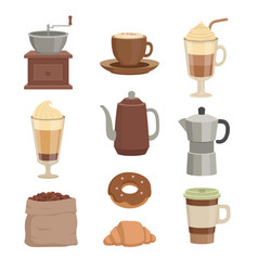 For cafe various cups vector