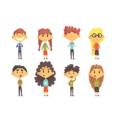 funny disciples elementary school cute boys vector image