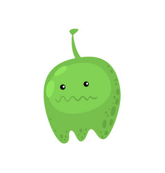 green fat viral or bacterial monster in vector image