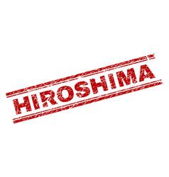 Grunge textured hiroshima stamp seal vector
