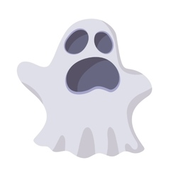 Halloween ghost icon cartoon style vector