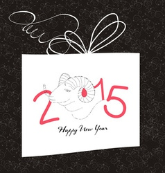 Happy new year gift card with goat vector