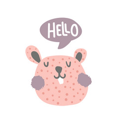 hello hamster vector image