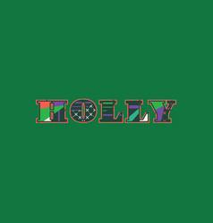 Holly concept word art vector
