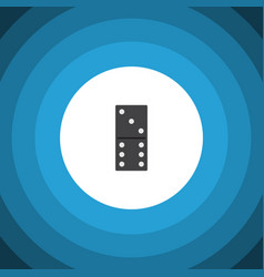 Isolated domino flat icon bones game vector