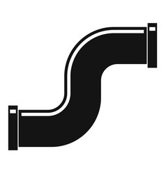 joint pipe in form s letter icon simple style vector image
