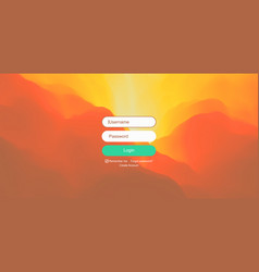 login user interface modern screen design gradient vector image