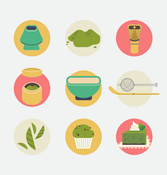 Matha round icons or stickers vector