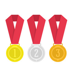 medal set vector image
