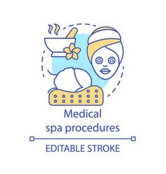 medical spa procedures concept icon vector image