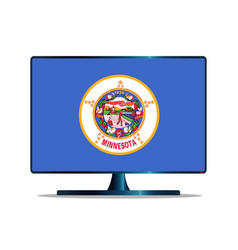 Minnesota flag tv vector