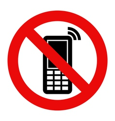 Mobile Phone prohibited vector image