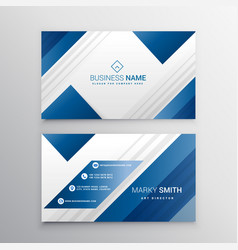 Modern business card in blue color vector
