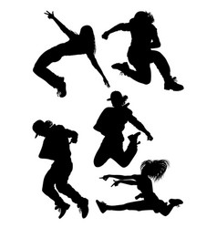 modern dancer activity silhouette vector image