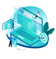 modern isometric concept for coding vector image