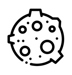 Moon with craters icon outline vector