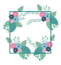 Multicolored decorative and square frame with vector