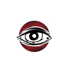 One eye cult religion sign symbol vector