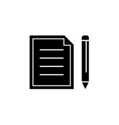 paper and pencil icon signs and symbols can be vector image