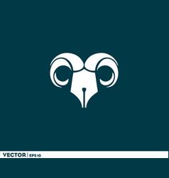 pen ibex logo vector image