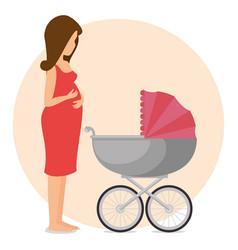 Pregnancy newborn baby icon vector