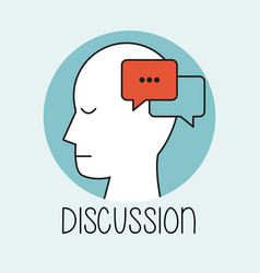 Profile human head discussion vector