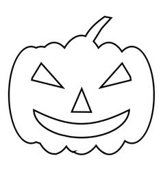 Pumpkin on halloween icon outline style vector