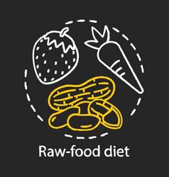 raw food diet chalk concept icon vegan lifestyle vector image